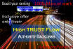 do 5 manual High Trust Flow Niche Backlinks