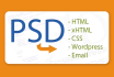 convert psd to html, psd to wordpress