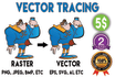 vectorize, convert your image into vector