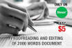 do Fast and Excellent Proofreading Of 2000 Words