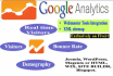 setup google analytics webmaster tools and sitemap in your Website
