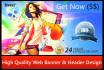 design a PROFESSIONAL Banner or superb header for your Website