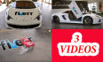 put your message or logo on 3 amazing car videos