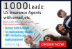 boost your traffic and sales by scraping 1000 US insurance agent contacts