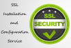 install SSL and configure green padlock