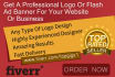 design a professional logo or flash ad banner for your website or business
