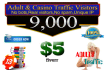 send 9,000 adult and casino real visitors to your website