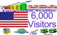 send 6,000 Unique Usa visitors to your website