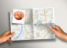 with 24 hours design your map and logo in this style