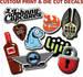 vinyl Label Decal Stickers full color any shape