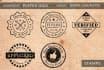 design 2 vintage badge, stamp styled logo