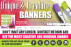 design CREATIVE banners that will stand out from the crowd