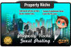 create an Optimised Article and Guest Post it on a PROPERTY Niche Site