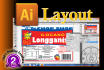 layout or edit your Advert, Flyer or Page in ILLUSTRATOR