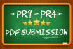 do PDF Submission manually to 32 PR9 PR4 doc sharing sites