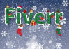 use Christmas tree texture,snow,etc to make your logo, text