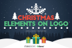 add Awesome Christmas Elements on Logo