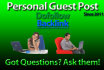 post your personal guest post on my blog on time or its free