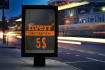 place your Logo, text or image on 4 bus shelters in 24hrs