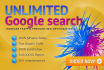 blast UNLIMITED Keywords Google search Traffic for one month