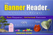 design professional Banner, Header in 24 hrs