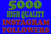 give you 5000+ permanent real and active instagram followers within 12 hrs just