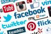 create 5 Social Media Profiles