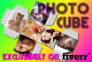 make you one photo cube template and 2nd is FREE