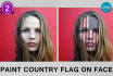 paint country flag, logo, tattoo or any Graphic on your face