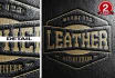 replicate your logo into this REALISTIC Leather Style