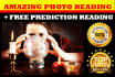 give INDEPTH Psychic Reading using Photograph