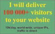deliver 100 000 visitors to your website