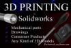 do 3d models designing in solidworks