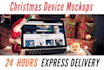 mockup screenshot on 5 Christmas devices like iPhone
