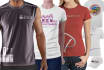 do a 3 clothing mock up from your image