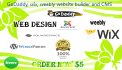 work in GoDaddy, wix, weebly website builder and CMS