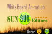 make beautifull white board animation and slide show