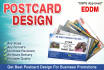 create Any Postcard Design with Amazing 24Hrs EDDM Approved