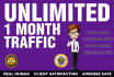 send quality web traffic visitors for one month