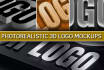 create 20 your Logo photorealistic mockups, including 3D
