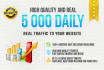 do 5 000 DAILY real traffic for 10 days