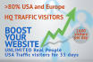 send 35 days UNLIMITED real traffic to your website