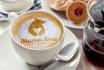 put logo or text on coffee latte art