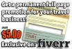 permanently promote your tourism business