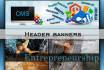 design Header banners, logo, business card etc