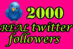 do 2000 Real Twitter Followers within 12 hours