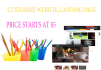 customize your web site