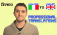 translate Any 100 Word Italian Text Into English