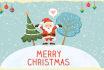 create a beautiful merry christmas video
