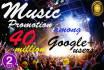 do viral MUSIC promotion among 40 million Google plus users